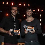 NLD/Amsterdam/20150203 - Uitreiking 100% NL Awards 2015, Nick en Simon krijgen de Award voor Beste artiest van het Jaar