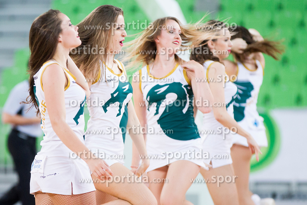 Zmajcice, dance team during basketball match between KK Union Olimpija and KK Zlatorog Lasko in semi-final of Nova KBM Champions League 2015/16, on May 23, 2016 in SRC Stozice, Ljubljana, Slovenia. Photo by Urban Urbanc / Sportida