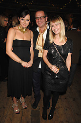 Left to right, RACHAEL STIRLING, SEAN PERTWEE & the HON.MRS PERTWEE at a reception to Discover Wilton's Music Hall held at the hall in Graces Alley, London E1 on 5th December 2007.<br />