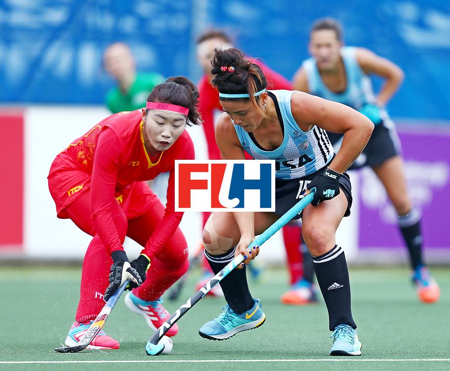 New Zealand, Auckland - 18/11/17  <br /> Sentinel Homes Women&rsquo;s Hockey World League Final<br /> Harbour Hockey Stadium<br /> Copyrigth: Worldsportpics, Rodrigo Jaramillo<br /> Match ID: 10294 - ARG vs CHN<br /> Photo: (15) GRANATTO Maria Eugenia against (5) LI Jiaqi