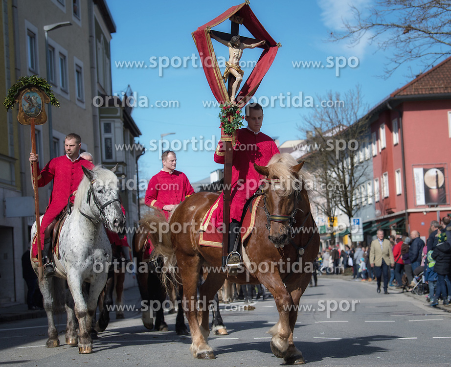 02.04.2018, Traunstein, GER, Georgi Ritt Traunstein 2018, im Bild Bruderschaft // during the traditionell Georgi Ritt on Easter Monday in. in Traunstein, Germany on 2018/04/02. EXPA Pictures © 2018, PhotoCredit: EXPA/ Erst Wukits