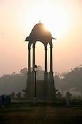 sunset at india gate, delhi, india