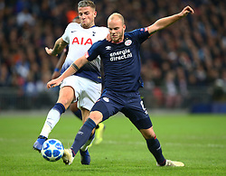 November 6, 2018 - London, England, United Kingdom - London, England - November 06, 2018.L-R Tottenham Hotspur's Toby Alderweireld and Jorrit Hendrix of PSV Eindhoven.during Champion League Group B between Tottenham Hotspur and PSV Eindhoven at Wembley stadium , London, England on 06 Nov 2018. (Credit Image: © Action Foto Sport/NurPhoto via ZUMA Press)