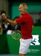 BNP Paribas Zurich Open Turnier, ATP Champions Tour, Herren Tennis Turnier in Zuerich,Schweiz,  .John McEnroe (USA) macht die Faust und jubelt,Jubel,Emotion,..Photo: Juergen Hasenkopf..