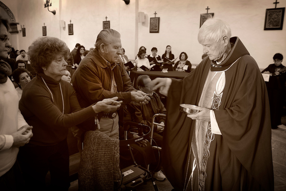 Mass,Mission San José y San Miguel de Aguayo is a historic Catholic mission in San Antonio, Texas, USA. near city of San Antonio,Texas,USA