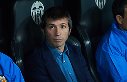 November 5, 2019, Valencia, Valencia, Spain: Albert Celades head coach of Valencia during the during the UEFA Champions League group H match between Valencia CF and Losc Lille at Estadio de Mestalla on November 5, 2019 in Valencia, Spain (Credit Image: © AFP7 via ZUMA Wire)
