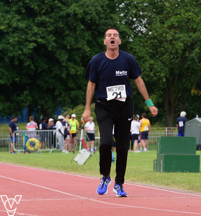 Metro Blind Sport's 2017 Athletics Open held at Mile End Stadium.  1500m.  Mike Winstone<br /> <br /> Picture: Chris Vaughan Photography for Metro Blind Sport<br /> Date: June 17, 2017