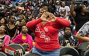 Franternity and sorority members proudly displayed their letters during the 2017 CIAA tournament.