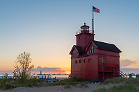 A summer sunset at Holland, Michigan