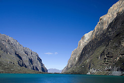 Lake Llanganuco (also known as Lag Chincacocha), Huascaran National Park, Cordillera Blanca range of the Andes, Peru, South America