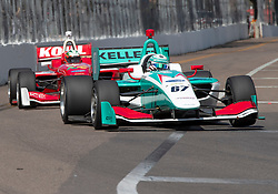 March 9, 2019 - St. Petersburg, FL, U.S. - ST. PETERSBURG, FL - MARCH 09: Dalton Kellett (67) during the Start of the Indy Lights Race of St. Petersburg on March 9 in St. Petersburg, FL. (Photo by Andrew Bershaw/Icon Sportswire) (Credit Image: © Andrew Bershaw/Icon SMI via ZUMA Press)