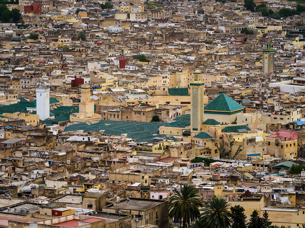 FEZ, MOROCCO - CIRCA APRIL 2017:  View of the Medina in Fez
