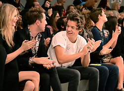 (L-R) Guest, Nick Grimshaw, Harry Styles, guest and Pixie Geldof attend the  Fashion East Show at London Fashion Week Spring/Summer 2014, London, United Kingdom. Tuesday, 17th September 2013. Picture by Andrew Parsons / i-Images