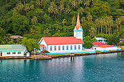 Church, Town of Tiva, Tahaa, French Polynesia