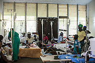 The pediatric cholera ward at the Hospital Albert Schweitzer on Saturday, October 30, 2010 in Deschapelles, Haiti.