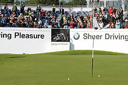 23.06.2015, Golfclub M&uuml;nchen Eichenried, Muenchen, GER, BMW International Golf Open, Show Event, im Bild Retief Goosen (RSA) schlaegt beim Show Event von der Tribuene ab // during the Show Event of BMW International Golf Open at the Golfclub M&uuml;nchen Eichenried in Muenchen, Germany on 2015/06/23. EXPA Pictures &copy; 2015, PhotoCredit: EXPA/ Eibner-Pressefoto/ Kolbert<br /> <br /> *****ATTENTION - OUT of GER*****