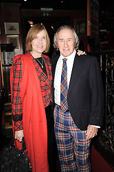 SIR JACKIE & LADY STEWART at the Johnnie Walker Blue Label great Scot Award 2010 in association with The Spectator and Boisdale held at Boisdale of Belgravia, 22 Ecclestone Street, London SW1 on 24th February 2010.