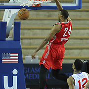Rio Grande Valley Vipers Forward Akil Mitchell (24) dunks the ball in the first half of a NBA D-league regular season basketball game between the Delaware 87ers and the Rio Grande Valley Vipers (Houston Rockets) Saturday, Dec. 27, 2014 at The Bob Carpenter Sports Convocation Center in Newark, DEL