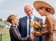 4-9-2019 BELTRUM - Queen Maxima will be given a tour after the opening of the first Green Mineral Plant in Beltrum in the Achterhoek. The plant is an example of circular agriculture in the region and is an initiative of the family business Groot Zevert Vergisting.  ROBIN UTRECHT