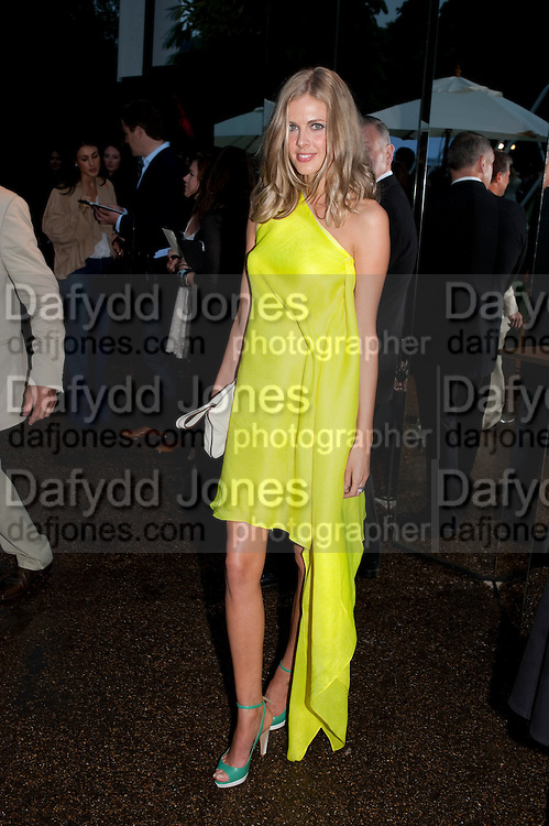 DONNA AIR, The Summer party 2011 co-hosted by Burberry. The Summer pavilion designed by Peter Zumthor. Serpentine Gallery. Kensington Gardens. London. 28 June 2011. <br /> <br />  , -DO NOT ARCHIVE-&copy; Copyright Photograph by Dafydd Jones. 248 Clapham Rd. London SW9 0PZ. Tel 0207 820 0771. www.dafjones.com.