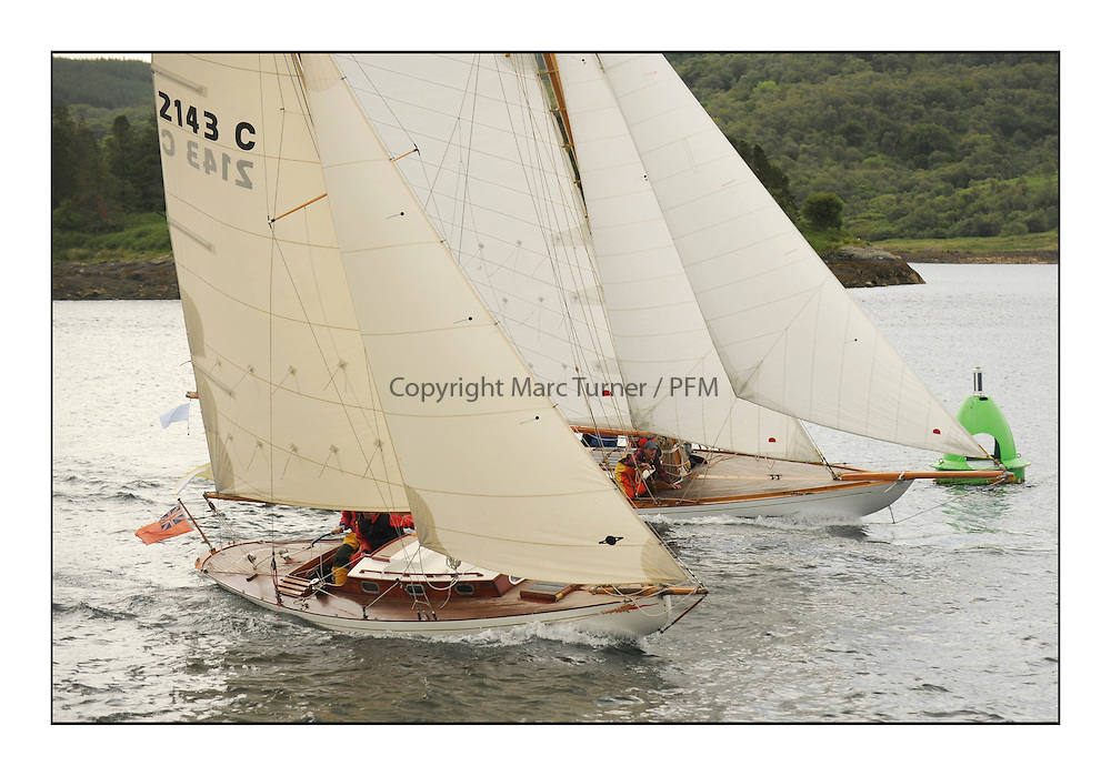 Day three of the Fife Regatta, Cruise up the Kyles of Bute to Tighnabruaich<br /> Mignon, Bob Fisher, GBR, Bermudan Sloop, Wm Fife 3rd, 1898 and The Truant, Ross Ryan, GBR, Gaff Cutter 8mR, Wm Fife 3rd, 1910<br /> <br /> * The William Fife designed Yachts return to the birthplace of these historic yachts, the Scotland&rsquo;s pre-eminent yacht designer and builder for the 4th Fife Regatta on the Clyde 28th June&ndash;5th July 2013<br /> <br /> More information is available on the website: www.fiferegatta.com