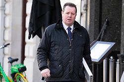 © Licensed to London News Pictures. 11/02/2019. London, UK. Chief Whip Mark Spencer walks in Westminster. Photo credit: George Cracknell Wright/LNP