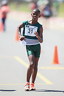 GEORGE, SOUTH AFRICA - OCTOBER 21: Durando Aweries of Athletics South Western Districts in the boys 5km during the ASA Race Walking Championship at Pacaltsdorp on October 21, 2017 in Goerge, South Africa. (Photo by Roger Sedres/Gallo Images)