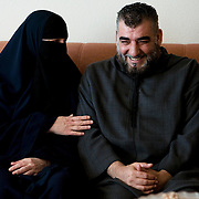 Arhus, Denmark, May 14, 2010. Aisha, 42, danish, converted to Islam with her husband Imad.