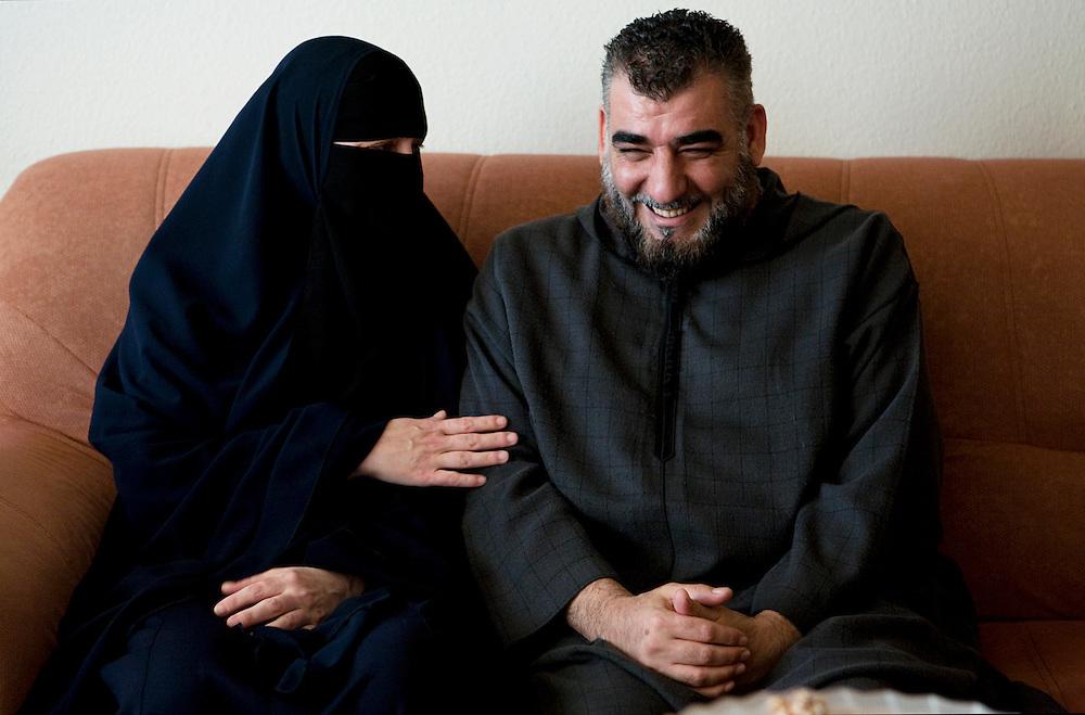 Arhus, Denmark, May 14, 2010. Aisha, 42, danish, converted to Islam with her husband Imad.