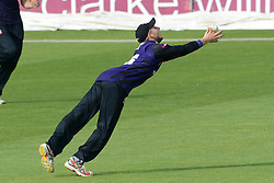 Chris Dent of Gloucestershire catches Shaun Tait of Essex out - Photo mandatory by-line: Dougie Allward/JMP - Mobile: 07966 386802 - 24/05/2015 - SPORT - Cricket - Bristol - County Ground - Gloucestershire v Essex Eagles - LV=County Cricket