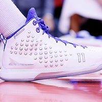 15 April 2014: Close view of Los Angeles Clippers guard Jamal Crawford (11) shoes during the Los Angeles Clippers 117-105 victory over the Denver Nuggets at the Staples Center, Los Angeles, California, USA.