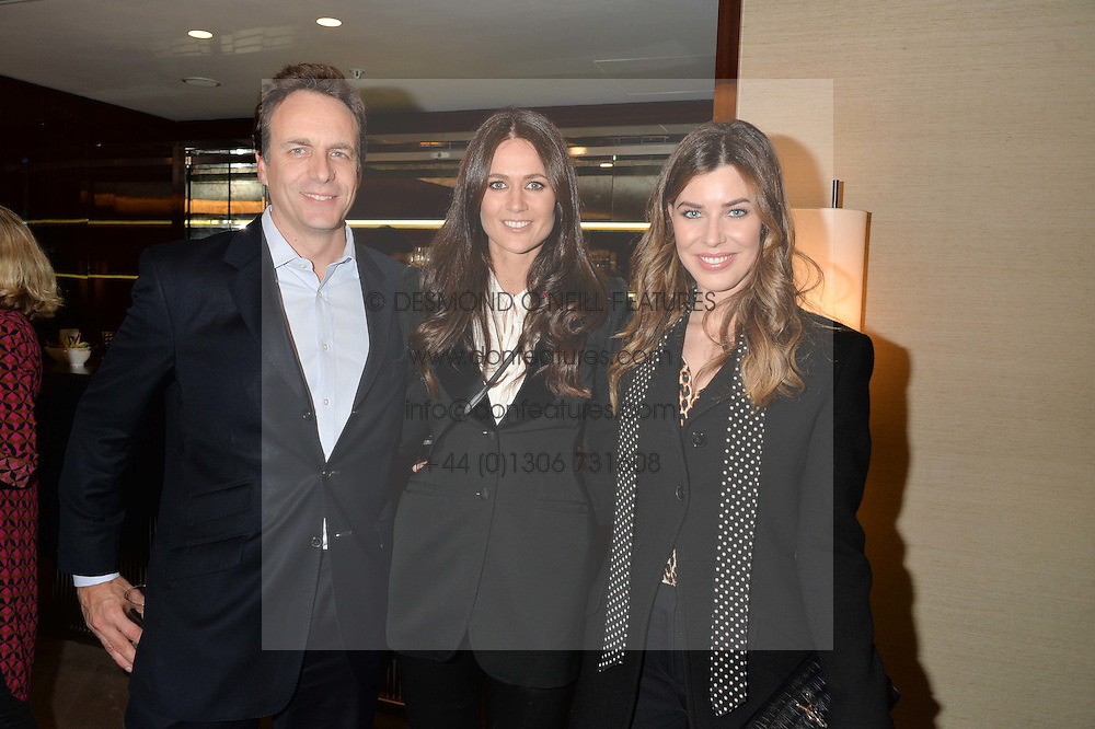 Left to right, GAVIN FERRAR, KIM NAYAR and JADE HARGREAVES-ADAMS at a screening of Paramount Pictures 'Allied' hosted by Rosie Nixon of Hello! Magazine at The Bulgari Hotel, 171 Knightsbridge, London on 23rd November 2016.