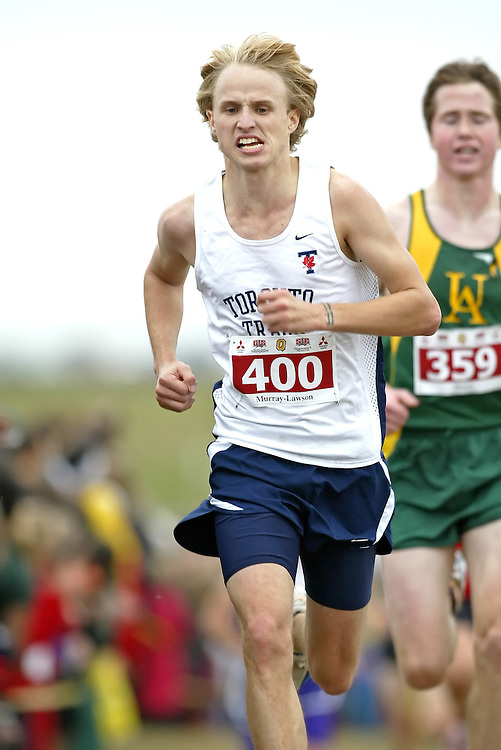 (Kingston, Ontario -- 14 Nov 2009)  COLIN MURRAY-LAWSON of the University of Toronto runs to 70 place at the  2009 Canadian Interuniversity Sport CIS Cross Country Championships at Forth Henry Hill in Kingston Ontario. Photograph copyright Sean Burges / Mundo Sport Images, 2009.