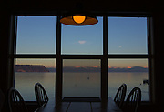 View of table and water outside. (Ellen M. Banner / The Seattle Times)