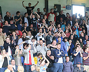 Dundee fans at the end - Dundee v St Johnstone at Dens Park <br /> - Ladbrokes Premiership<br /> <br />  - &copy; David Young - www.davidyoungphoto.co.uk - email: davidyoungphoto@gmail.com