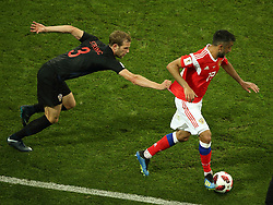 July 7, 2018 - Sochi, Russia - July 07, 2018, Sochi, FIFA World Cup 2018, the playoff round. 1/4 finals of the World Cup. Football match Russia - Croatia at the stadium Fisht. Player of the national team Alexander Samedov  (Credit Image: © Russian Look via ZUMA Wire)