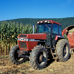 Kent, CT. A tractor and corn field in the Litchfield Hills of western Connecticut.