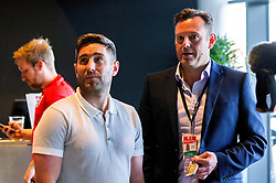 Bristol City Manager Lee Johnson and Chief Operations Manager Mark Ashton at the Sports Bar and Grill at Ashton Gate - Mandatory by-line: Robbie Stephenson/JMP - 20/06/2016 - FOOTBALL - Ashton Gate - Bristol, United Kingdom  - England vs Slovakia - UEFA Euro 2016