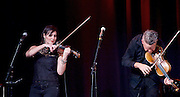 FourPlay String Quartet with special guest Neil Gaiman perform live at the Leicester Square Theatre, London, Great Britain <br />