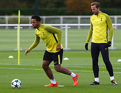 October 31, 2017 - Enfield, England, United Kingdom - L-R Tottenham Hotspur's Mousa Dembele and Tottenham Hotspur's Harry Kane.during a Tottenham Hotspur training session ahead of the UEFA Champions League Group H match against Real Madrid  at Tottenham Hotspur Training centre on 31 Oct , 2017 in Enfield, England. (Credit Image: © Kieran Galvin/NurPhoto via ZUMA Press)