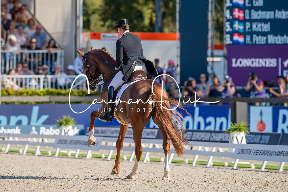 Werth Isabell, GER, Bella Rose 2<br /> European Championship Dressage<br /> Rotterdam 2019<br /> © Hippo Foto - Dirk Caremans