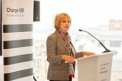 Pictured: Anna Soubry<br /> <br /> European Election candidates from Change UK headed to Edinburgh today to rally voters to their drive to remain in the EU.  Led by MPS Anna Soubry, Chris Leslie and Gavin Shuker, candidates Kate Foreman, Colin McFadyen, Peter Griffiths, Heather Astbury and Catherine Edgeworth had the oppertunity to explain why they were backing the new party.<br /> <br /> Ger Harley | EEm 19 May 2019