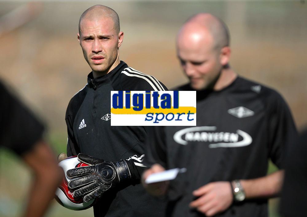 Fotball , 8. januar 2007 ,Rosenborg  p&aring; Grand Canaria<br /> <br /> m&aring;lvakt Lars Hirschfeld  , RBK
