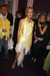 LADY ISABELLA HERVEY at a party hosted by jeweller Theo Fennell and Dominique Heriard Dubreuil of Remy Martin fine Champagne Cognac entitles 'Hot Ice' held at 35 Belgrave Square, London, W1 on 26th October 2004.<br />
