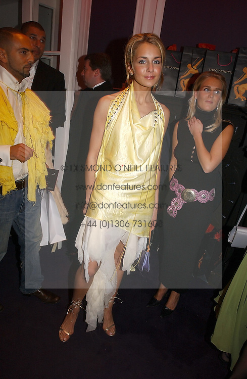 LADY ISABELLA HERVEY at a party hosted by jeweller Theo Fennell and Dominique Heriard Dubreuil of Remy Martin fine Champagne Cognac entitles 'Hot Ice' held at 35 Belgrave Square, London, W1 on 26th October 2004.<br /><br />NON EXCLUSIVE - WORLD RIGHTS