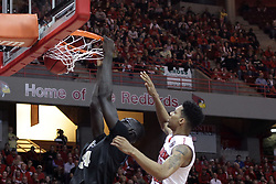 20 March 2017:  Tacko Fall battles with Phil Fayne(10) during a College NIT (National Invitational Tournament) 2nd round mens basketball game between the UCF (University of Central Florida) Knights and Illinois State Redbirds in  Redbird Arena, Normal IL