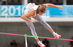 Jurij Rovan of Slovenia competes in the Mens Pole Vault Qualifying during day three of the 20th European Athletics Championships at the Olympic Stadium on July 29, 2010 in Barcelona, Spain.  (Photo by Vid Ponikvar / Sportida)
