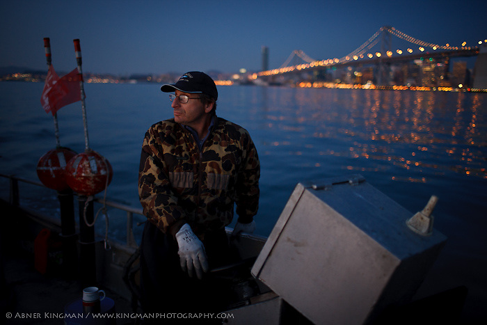 Dominic Papetti, Karen Locaynia, herring fishing in San Francisco Bay