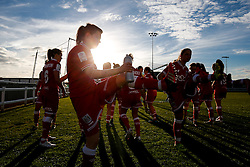 Bristol City Women warm down after they win the match 7-1 - Mandatory byline: Rogan Thomson/JMP - 14/02/2016 - FOOTBALL - Stoke Gifford Stadium - Bristol, England - Bristol City Women v Queens Park Rangers Ladies - SSE Women's FA Cup Third Round Proper.