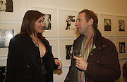 Deniz Seti and Robert Astley-Sparke. Warhol's World. Photography and Television. Hauser and Wirth. Piccadilly, London. 26  January 2006.  ONE TIME USE ONLY - DO NOT ARCHIVE  © Copyright Photograph by Dafydd Jones 66 Stockwell Park Rd. London SW9 0DA Tel 020 7733 0108 www.dafjones.com